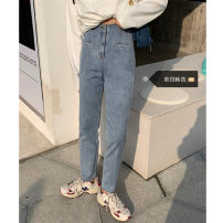 Women's large Spring 2021, summer 2021, autumn 2021 blue S [recommended 80-95 kg], m [recommended 95-110 kg], l [recommended 110-125 kg], XL [recommended 125-140 kg], 2XL [recommended 140-160 kg], 3XL [recommended 160-180 kg], 4XL [recommended 180-200 kg] trousers singleton  commute easy moderate