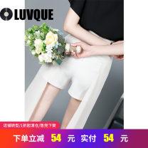 Casual pants Apricot black S M L XL Summer of 2019 shorts Wide leg pants High waist commute K9020 Luvque / love queen Korean version Polyester 95% polyurethane elastic fiber (spandex) 5% Pure e-commerce (online only)