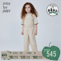 trousers jnby by JNBY neutral 100cm 110cm 120cm 130cm 140cm 150cm 160cm 742 oil yellow 023 iron ash summer trousers leisure time rompers low-waisted other Don't open the crotch Cotton 52% flax 48% 1L2350520 Class B 1L2350520 Spring 2021