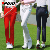 Golf apparel White [Korean embroidery] Navy [Korean embroidery] red [Korean embroidery] XS S M L XL female PGM trousers KUZ024 Summer 2021 yes