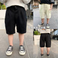 trousers Cotton class neutral 90cm,100cm,110cm,120cm,130cm,140cm Black, white summer Pant leisure time There are models in the real shooting Casual pants Leather belt middle-waisted CX1002 12 months, 6 months, 18 months, 2 years, 3 years, 4 years, 5 years, 6 years