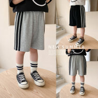 trousers Cotton class neutral 90cm,100cm,110cm,120cm,130cm,140cm Black, gray, black (pre-sale), gray (pre-sale) summer shorts leisure time There are models in the real shooting Casual pants Leather belt middle-waisted Open crotch MX1009