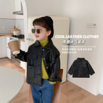 Jacket / leather Cotton class neutral black 80cm,90cm,100cm,110cm,120cm,130cm other leisure time spring and autumn routine nothing Single breasted There are models in the real shooting Lapel