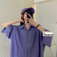 shirt Purple, turquoise Average size Summer 2021 other 71% (inclusive) - 80% (inclusive) elbow sleeve Medium length routine Solid color
