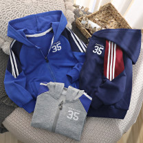 Plain coat Other / other neutral (tag 110), (tag 120), (tag 130), (tag 140), (tag 150), (tag 160) Sapphire, grey, navy spring and autumn leisure time Zipper shirt No model routine No detachable cap cotton WT2012