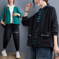 short coat Autumn 2020 L [recommended 100-140 kg], XL [recommended 140-170 kg], XXL [recommended 170-210 kg] Green, black Long sleeves routine routine singleton  easy commute routine V-neck Three buttons Solid color Other / other 51% (inclusive) - 70% (inclusive) Pocket, zipper cotton cotton
