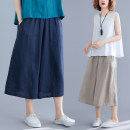 Women's large Summer 2020 L [100-150 Jin], XL [150-200 Jin] trousers singleton  commute easy moderate Solid color Korean version Cotton, hemp Other / other 81% (inclusive) - 90% (inclusive) Cropped Trousers