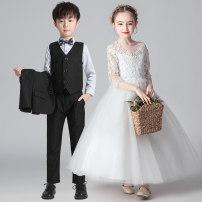 Children's dress neutral 110cm 120cm 130cm 140cm 150cm 160cm 170cm 180cm Kachinini full dress 19111/1999 Class B other Polyester 100% Summer 2020 4 years old, 5 years old, 6 years old, 7 years old, 8 years old, 9 years old, 10 years old, 11 years old, 12 years old, 13 years old, 14 years old princess