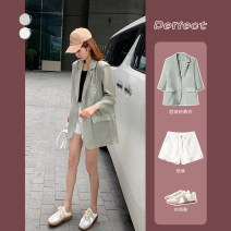 Fashion suit Summer 2020 S M L XL Bean green suit sunscreen black suspender white shorts 25-35 years old Light wind DDF20YF3229 Polyester fiber 86.3% polyurethane elastic fiber (spandex) 13.7% Exclusive payment of tmall