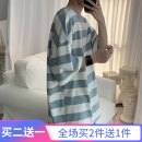 T-shirt Youth fashion thin XXL 4XL 5XL S M L XL 3XL SUNQUAN elbow sleeve Crew neck easy Other leisure summer Cotton 95% polyurethane elastic fiber (spandex) 5% teenagers Off shoulder sleeve tide Knitted fabric Summer 2020 stripe stripe cotton Art theme Fashion brand Pure e-commerce (online only)