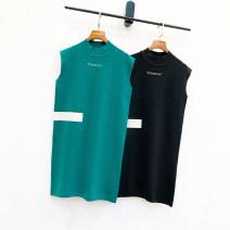Dress Autumn 2020 Black, lake blue Average size Small four original Zb1169 sleeveless knitted dress