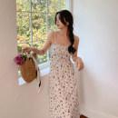 Dress Summer 2021 white S,M,L Mid length dress singleton  Sleeveless commute V-neck High waist Decor Socket A-line skirt camisole Type A 202104-LYQ8664 More than 95% Cellulose acetate