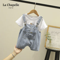 trousers pote neutral 80cm,90cm,100cm,110cm,120cm White, blue summer shorts Korean version No model rompers Button / zipper middle-waisted Cotton denim Open crotch Class B 12 months, 6 months, 9 months, 18 months, 2 years old, 3 years old, 4 years old, 5 years old Chinese Mainland