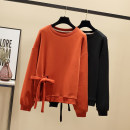 Women's large Winter of 2019, autumn of 2019 Black, caramel, caramel with down, black with down# M [80-100 Jin], l [100-120 Jin], XL [120-140 Jin], 2XL [140-160 Jin], 3XL [160-180 Jin], 4XL [180-200 Jin] Sweater / sweater singleton  commute easy moderate Socket Long sleeves Solid color Korean version
