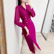Dress Spring 2021 rose red S,M,L,XL,2XL Parfait P4307
