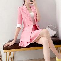 Fashion suit Summer 2021 S,M,L,XL,XXL Pink Parfait P5256 81% (inclusive) - 90% (inclusive) cotton