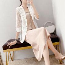 Fashion suit Summer 2021 S,M,L,XL,XXL White, decor, champagne powder 25-35 years old Parfait P5284 51% (inclusive) - 70% (inclusive) polyester fiber
