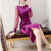 Dress Spring 2021 Purplish red S,M,L,XL,2XL Parfait P4815