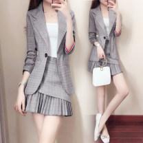 Fashion suit Spring 2020 S,M,L,XL,XXL Jacket + skirt Parfait