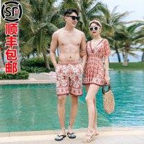 Couple swimsuit Qihai M L XL XXL XXXL XXXXL Women's and men's QH21119J Spandex polyester Winter 2020 currency