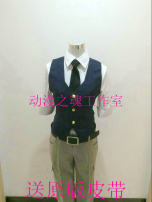 Cosplay men's wear suit Customized The soul of animation Over 14 years old Male, female comic 50. M, s, XL, customized