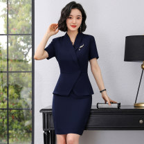 Fashion suit Summer 2021 S M L XL XXL XXXL Suit + Half skirt suit + trousers 25-35 years old J-ME A8093+S8093 96% and above polyester fiber Polyester fiber 97.5% polyurethane elastic fiber (spandex) 2.5% Pure e-commerce (online only)