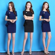Professional dress suit S M L XL XXL XXXL Blue black Summer 2021 Short sleeve Q963 Other styles Suit skirt 25-35 years old J-ME Polyester 89.2% polyurethane elastic fiber (spandex) 10.8% Pure e-commerce (online only) 81% (inclusive) - 90% (inclusive) Vinylon