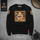 T-shirt Youth fashion routine S M L XL XXL 3XL Long sleeves Crew neck Self cultivation daily autumn Cotton 95% polyester 5% teenagers routine Chinese style other Autumn 2016 Ethnic style Embroidery cotton Chinese culture washing Fashion brand Pure e-commerce (online only)