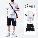 T-shirt Youth fashion Suit white suit black suit yellow suit grey Short Sleeve White Short Sleeve Black Short Sleeve yellow short sleeve grey thin S M L XL 2XL 3XL 4XL 5XL Early Tang Dynasty Short sleeve Crew neck easy daily summer DJS-DS402TZ-3.24-HSH youth routine tide other Summer 2021 other