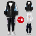 Jacket Early Tang Dynasty Youth fashion M L XL 2XL 3XL 4XL routine easy Other leisure spring GSK-TZ-8038-3.6-HY Polyester 100% Long sleeves Wear out Hood tide youth routine Zipper placket Cloth hem No iron treatment Loose cuff other polyester fiber Summer 2021 More than two bags) Side seam pocket