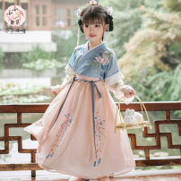 Hanfu nation Three, four, five, six, seven, eight, nine, ten, eleven, twelve Chiffon Chinese style female blue Tagkita / she and others 100,110,120,130,140,150