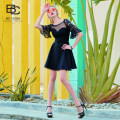 Dress Summer 2020 black S/34 M/36 L/38 XL/40 Short skirt singleton  Short sleeve commute Crew neck High waist other zipper A-line skirt routine 25-29 years old Type A bcvoga Britain Lace NC003TB5373 81% (inclusive) - 90% (inclusive) other polyester fiber