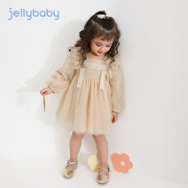 Dress Champagne pink dark blue female jellybaby 80cm 90cm 100cm 110cm 120cm 130cm Other 100% spring and autumn princess Long sleeves Solid color other A-line skirt JQ03-JL070V other Spring 2021 18 months, 2 years, 3 years, 4 years, 5 years, 6 years