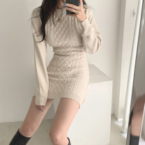 Wool knitwear Winter 2020 Average size Apricot, grey, black Long sleeves singleton  Socket other 81% (inclusive) - 90% (inclusive) Medium length thick Self cultivation