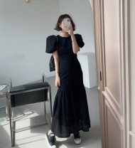 Fashion suit Summer 2021 Average size White top, black top, white skirt, black skirt 18-25 years old