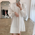Dress Autumn 2020 White, apricot grey Average size Middle-skirt singleton  Long sleeves commute stand collar Socket bishop sleeve 18-24 years old 51% (inclusive) - 70% (inclusive)