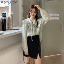 Lace / Chiffon Spring 2021 Average size Long sleeves commute Socket singleton  easy have cash less than that is registered in the accounts Admiral shirt sleeve 18-24 years old Fan Weier Korean version 31% (inclusive) - 50% (inclusive) Other 100% Pure e-commerce (online only)
