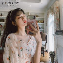 Dress Spring 2021 white S M L Middle-skirt singleton  Short sleeve Sweet square neck High waist Broken flowers Socket Princess Dress Princess sleeve Others 18-24 years old Type A Fan Weier Resin fixation 9267-2 More than 95% other other Other 100% solar system Pure e-commerce (online only)