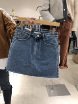 skirt Spring 2021 S,M,L,XL blue Short skirt commute High waist other Solid color 18-24 years old 51% (inclusive) - 70% (inclusive) other Korean version