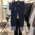 Casual pants navy blue S,M,L,XL Spring 2021 trousers Straight pants High waist commute routine 18-24 years old 31% (inclusive) - 50% (inclusive)