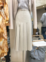 skirt Autumn 2020 S,M,L,XL Apricot Mid length dress commute High waist A-line skirt Solid color 18-24 years old 51% (inclusive) - 70% (inclusive) other other Korean version