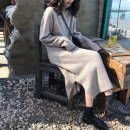 Dress Autumn of 2019 Apricot grey dark grey S M L XL longuette singleton  Long sleeves commute High collar Solid color Socket Irregular skirt routine 18-24 years old Love fame and elegance Korean version Splicing FH8013 More than 95% knitting other Other 100% Pure e-commerce (online only)