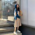 Dress Winter 2020 Hooded sweater + skirt S M L XL Mid length dress Two piece set Long sleeves commute Hood High waist Abstract pattern Socket 18-24 years old Love fame and elegance Korean version CZL9667 More than 95% knitting other Other 100% Pure e-commerce (online only)