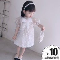 Dress white female Other / other 80cm,90cm,100cm,110cm,120cm Other 100% summer princess Skirt / vest Solid color cotton Pleats 7 years old, 8 years old, 12 months old, 3 years old, 6 years old, 18 months old, 9 months old, 6 months old, 2 years old, 5 years old, 4 years old Chinese Mainland
