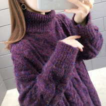 sweater Winter 2020 S M L XL Long sleeves Socket singleton  Regular other 95% and above High collar thickening commute routine Solid color Straight cylinder Regular wool Keep warm and warm You've got to go thread Other 100% Pure e-commerce (online only)