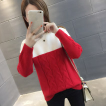 sweater Autumn of 2018 S M L XL Yellow red blue purple black Long sleeves Socket singleton  Regular other 95% and above Crew neck thickening commute routine other Straight cylinder Regular wool Keep warm and warm You've got to go AS18D3036F Other 100% Pure e-commerce (online only)