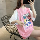 T-shirt Pink Blue Yellow Black S M L XL Summer 2021 Short sleeve Crew neck easy Medium length routine commute other 96% and above 18-24 years old Korean version originality Cartoon animation You've got to go H01322 printing Other 100% Pure e-commerce (online only)
