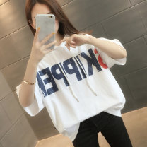 T-shirt Pink white blue black S M L XL Summer 2021 Short sleeve Hood easy Regular routine commute other 96% and above 18-24 years old Korean version youth letter You've got to go H01329 printing Other 100% Pure e-commerce (online only)