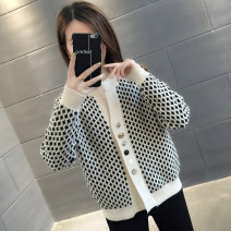 Wool knitwear Spring of 2019 S M L XL White red Long sleeves singleton  Cardigan other More than 95% Regular routine commute easy Low crew neck routine Single breasted Korean version You've got to go Button Other 100% Pure e-commerce (online only)