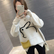 sweater Winter of 2018 S M L XL Long sleeves Socket singleton  Regular other 95% and above Crew neck thickening commute routine Cartoon animation Straight cylinder Regular wool Keep warm and warm You've got to go Embroidery Other 100% Pure e-commerce (online only)